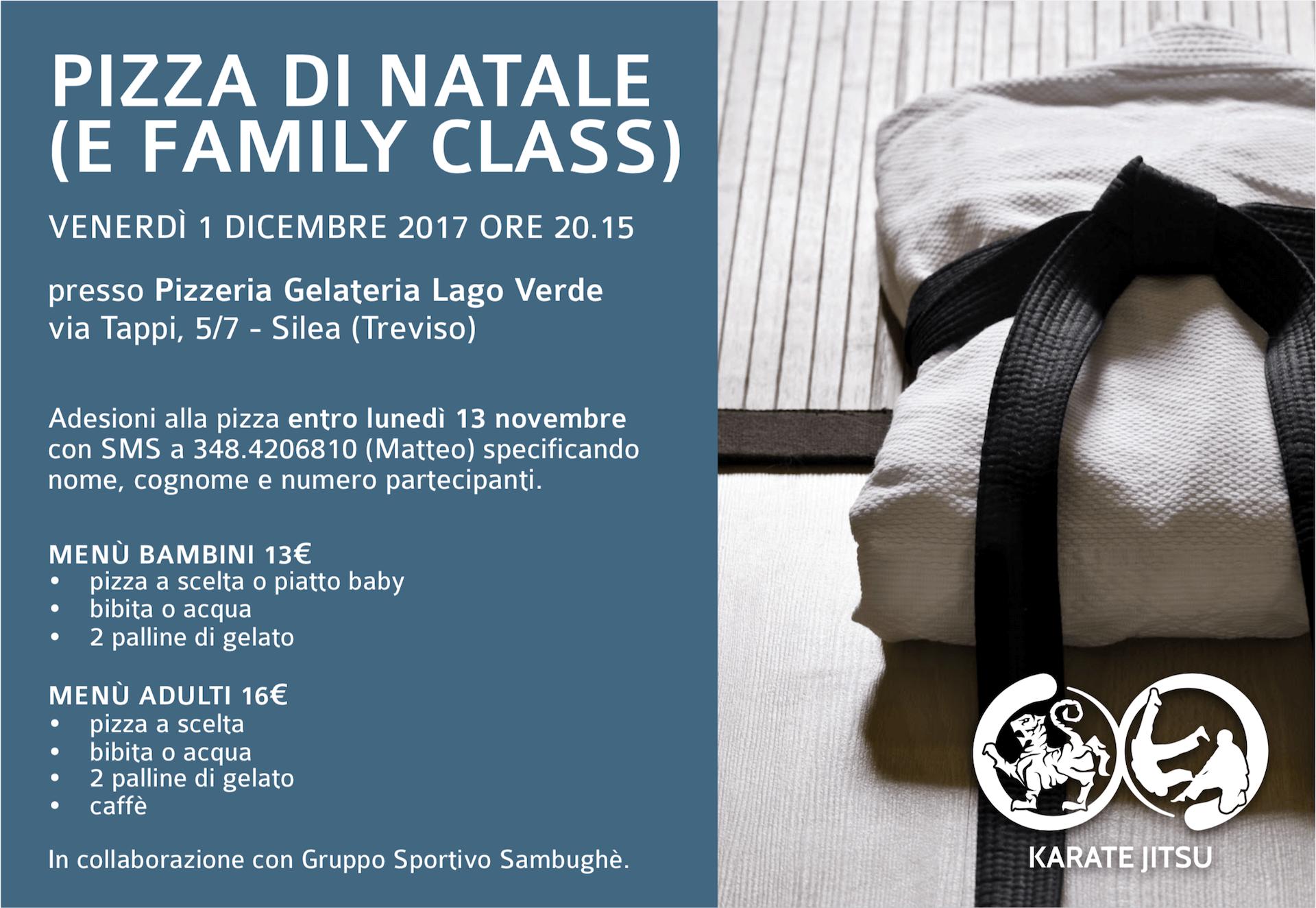 Pizza di Natale Karate Jitsu e lezione Family Class